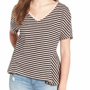 🌷3 for $15!🌷 BP Striped Sharkbite Hem Tee